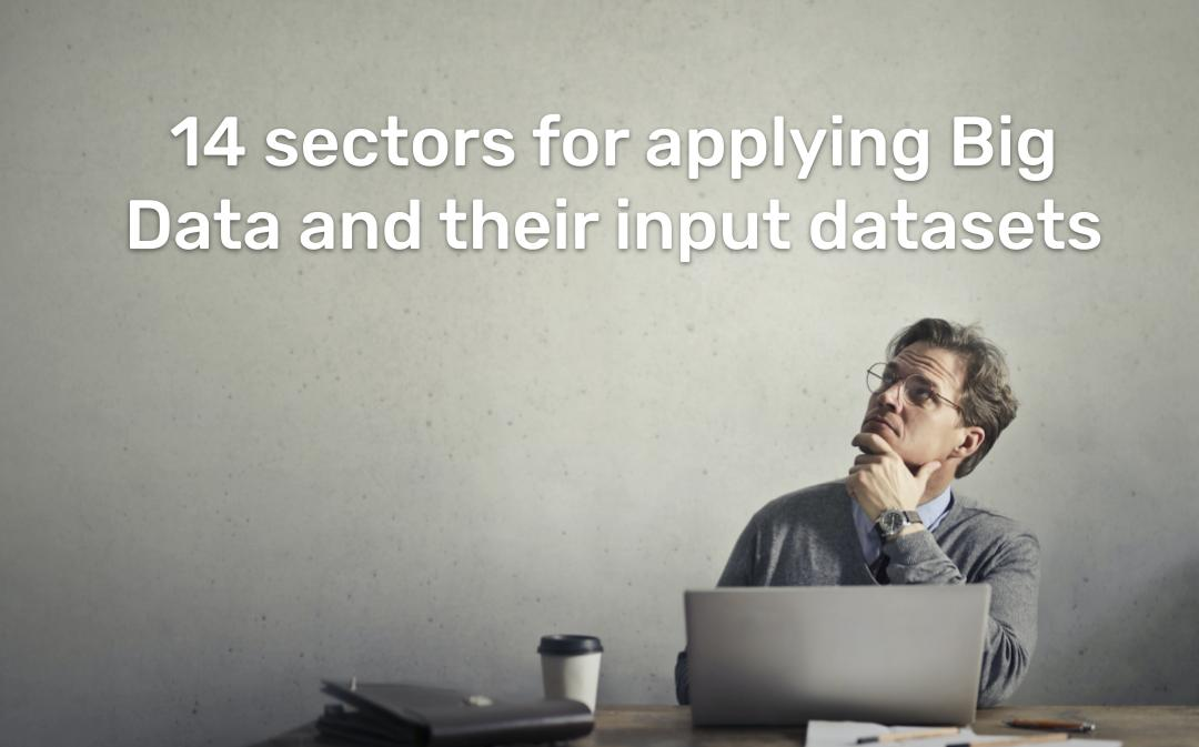 14 sectors for applying Big Data and their input datasets