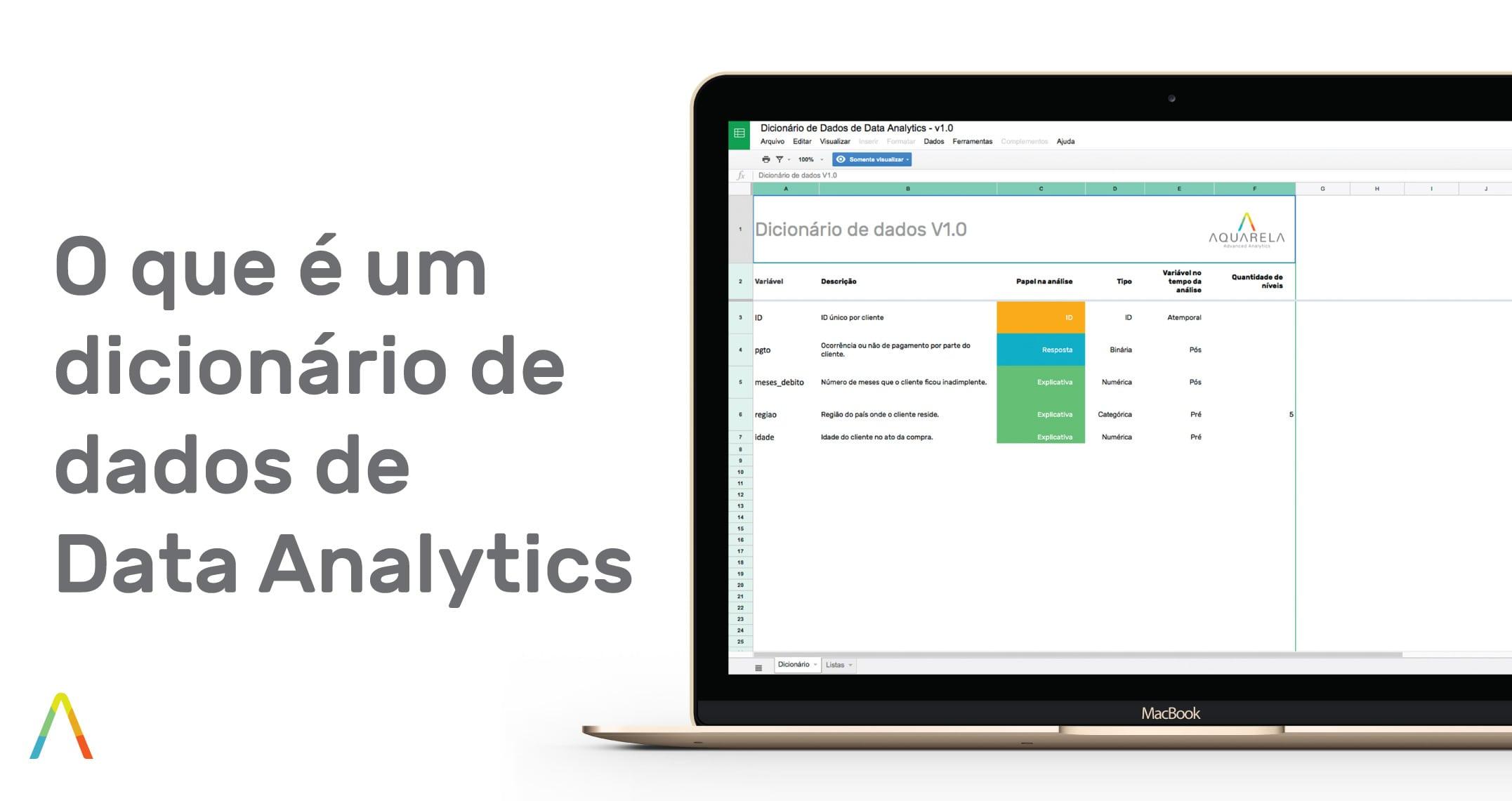 O que é um dicionário de dados de Data Analytics