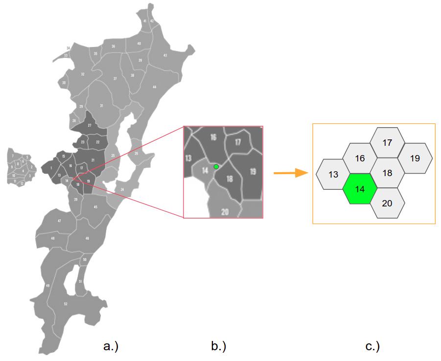 normalização geográfica - mapa Florianópolis
